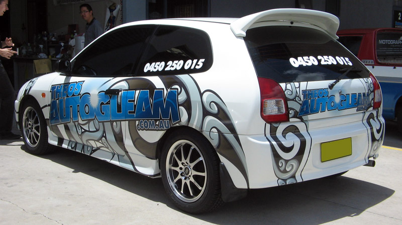 Clear Vinyl Wrap Printed Graphics Motographics Visual